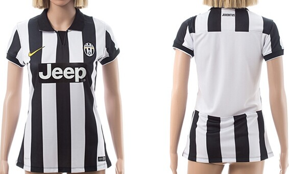 2014/15 Juventus FC Blank (or Custom) Home Soccer Shirt Kit_Womens