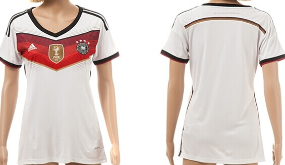 2014 World Cup Germany Blank (or Custom) 2014 FIFA Champions Home Soccer AAA+ T-Shirt_Womens