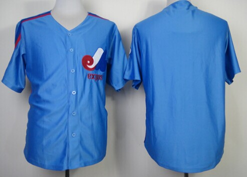 Montreal Expos Blank Blue Throwback Jersey