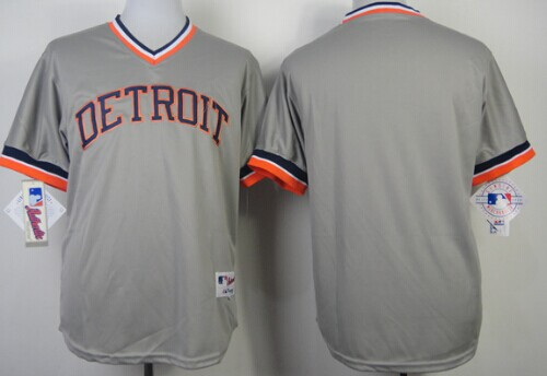 Detroit Tigers Blank 1984 Gray Pullover Jersey