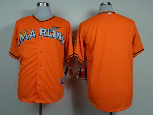 Miami Marlins Blank Orange Jersey