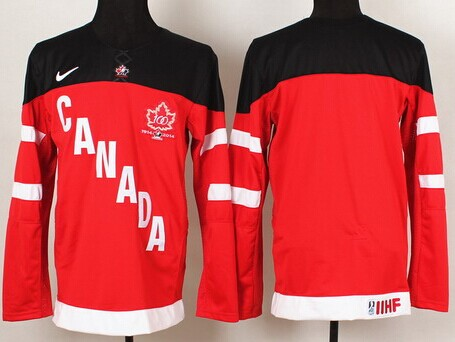 2014/15 Team Canada Men's Customized Red 100TH Jersey