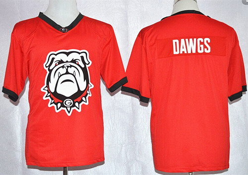Georgia Bulldogs Blank Dawgs Team Pride Fashion Red Jersey