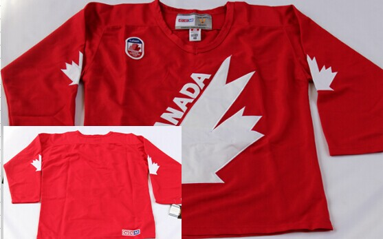 Team Canada Blank 1991 Olympic Red Throwback CCM Jersey