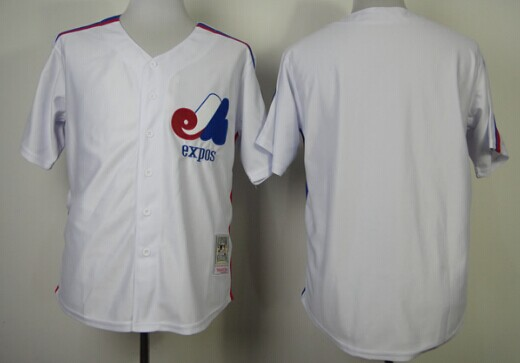 Montreal Expos Blank White Throwback Jersey