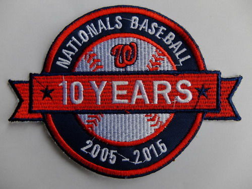 Washington Nationals 10th Anniversary Patch