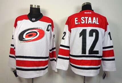 Carolina Hurricanes #12 Eric Staal White Jersey