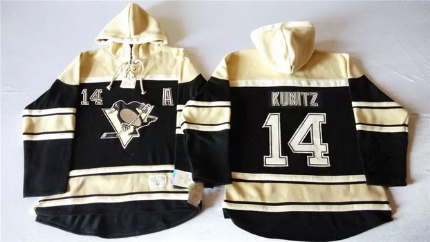 Old Time Hockey Pittsburgh Penguins #14 Black Hoodie