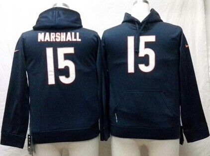 Nike Chicago Bears #15 Brandon Marshall Blue Kids Hoodie