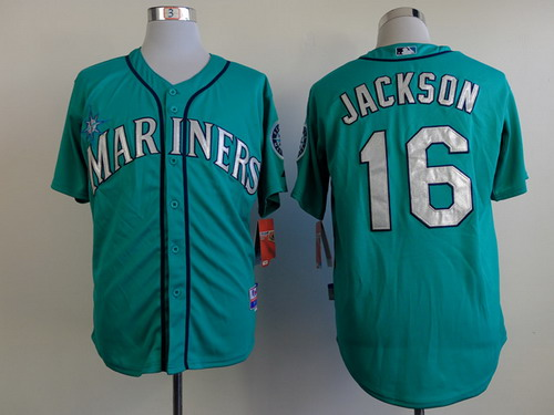Seattle Mariners #16 Austin Jackson Green Jersey