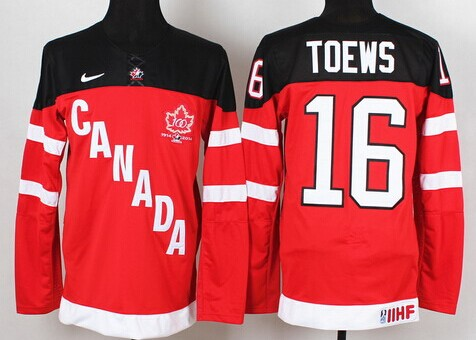 2014/15 Team Canada #16 Jonathan Toews Red 100TH Jersey
