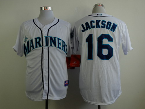 Seattle Mariners #16 Austin Jackson White Jersey