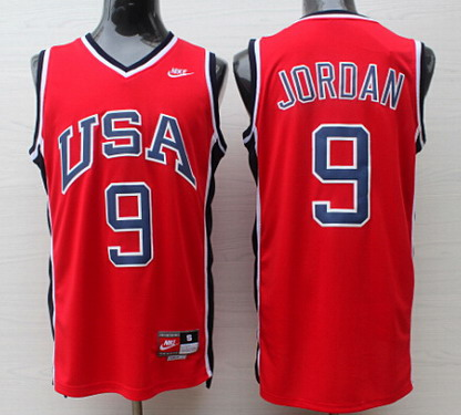 1984 Olympics Team USA #9 Michael Jordan Red Swingman Jersey