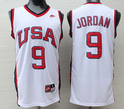 1984 Olympics Team USA #9 Michael Jordan White Swingman Jersey