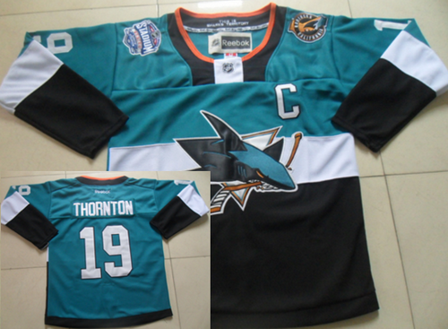 San Jose Sharks #19 Joe Thornton 2015 Stadium Series Blue/Black Jersey