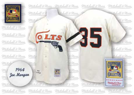 Houston Colts #35 Joe Morgan Cream Throwback Jersey
