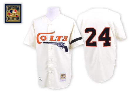 Houston Colt #24 Jimmy Wynn Cream Throwback Jersey