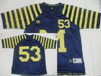 Michigan Wolverines #53 Under The Lights Navy Blue Jersey