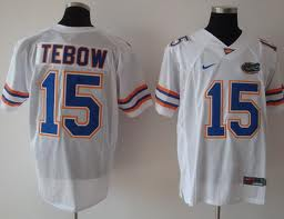 Florida Gators #15 Tebow White Jersey