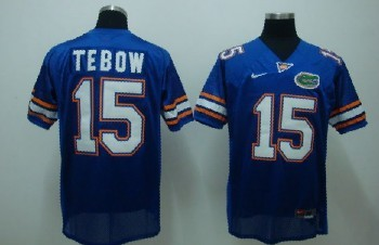 Florida Gators #15 Tebow Blue Jersey