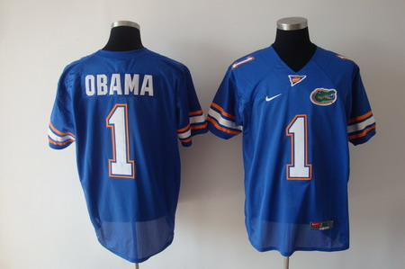 Florida Gators #1 Obama Blue Jersey