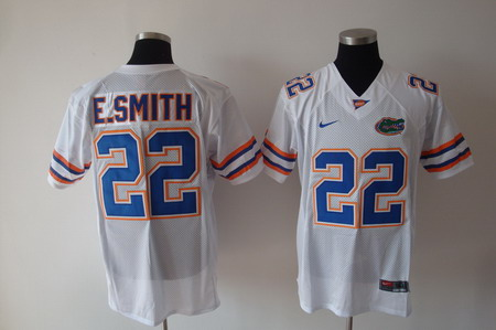 Florida Gators #22 E.Smith White Jersey