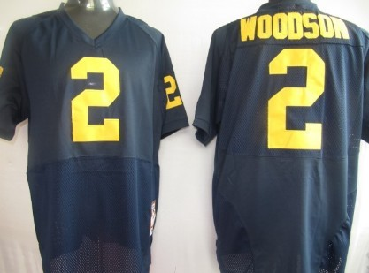 Michigan Wolverines #2 Woodson Navy Blue Jersey