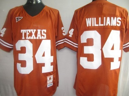 Texas Longhorns #34 Williams Orange Jersey