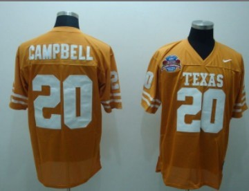 Texas Longhorns #20 Campbell Orange Jersey
