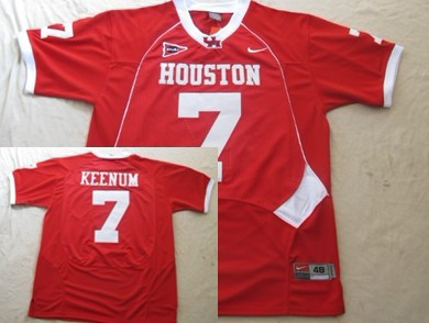 University of Houston #7 Case Keenum Red Jersey