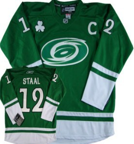 Carolina Hurricanes #12 Eric Staal St. Patrick's Day Green Jersey