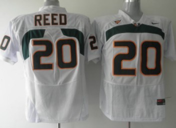 Miami Hurricanes #20 Reed White Jersey