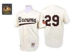 St. Louis Browns #29 Satchel Paige Cream Throwback Jersey