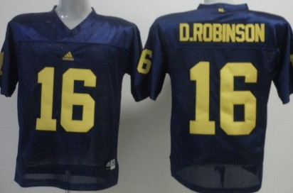 Michigan Wolverines #16 Denard Robinson Navy Blue Jersey