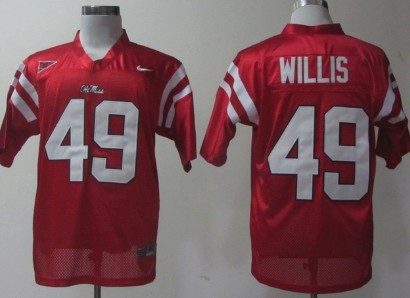 Ole Miss Rebels #49 Patrick Willis Red Jersey