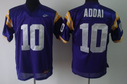 LSU Tigers #10 Joseph Addai Purple Jersey