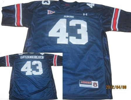 Auburn Tigers #43 Philip Lutzenkirchen Navy Blue Throwback Jersey