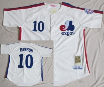 Montreal Expos #10 Andre Dawson Cream Throwback Jersey