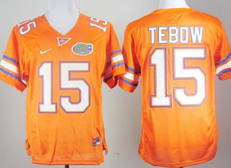 Florida Gators #15 Tim Tebow Orange Jersey