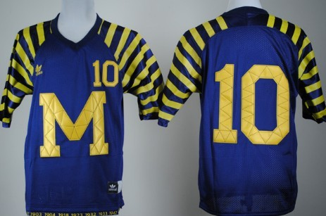 Michigan Wolverines #10 Tom Brady Navy Blue Under The Lights Jersey