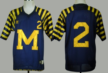 Michigan Wolverines #2 Charles Woodson Navy Blue Under The Lights Jersey