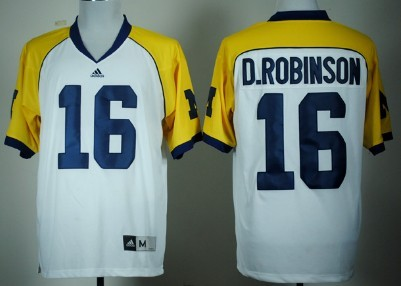 Michigan Wolverines #16 Denard Robinson White Cowboys Classic Jersey