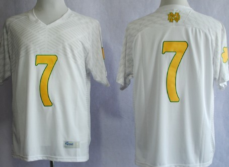 Notre Dame Fighting Irish #7 Stephon Tuitt 2013 Shamrock Series White Jersey