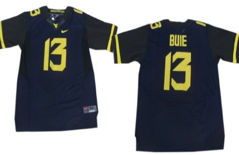 West Virginia Mountaineers #13 Andrew Buie 2013 Navy Blue Elite Jersey