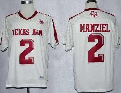 Texas A&M Aggies #2 Johnny Manziel 2013 White Jersey