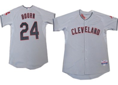 Cleveland Indians #24 Michael Bourn Gray Jersey