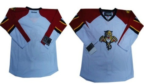 Florida Panthers Mens Customized White Jersey