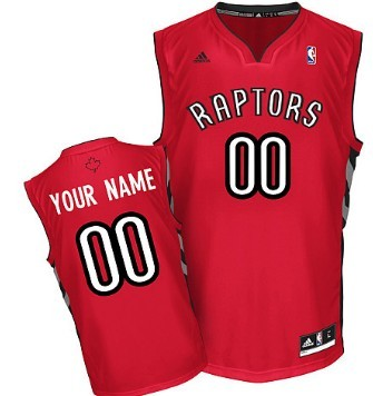 Mens Toronto Raptors Customized Red Jersey