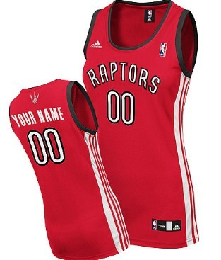 Womens Toronto Raptors Customized Red Jersey
