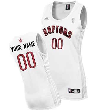 Womens Toronto Raptors Customized White Jersey